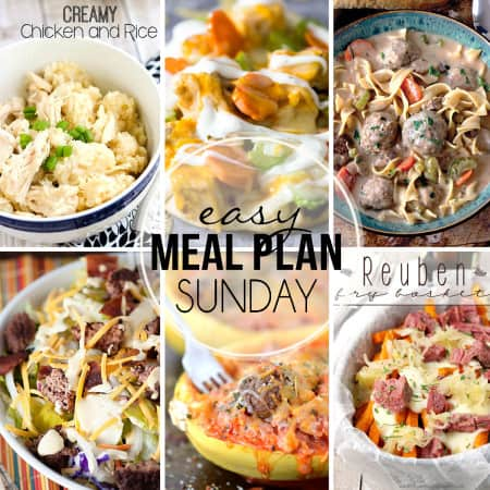 Easy Meal Plan Sunday 28