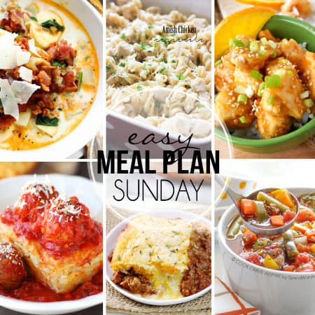Easy Meal Plan Sunday 29