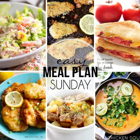 Easy Meal Plan Sunday 30