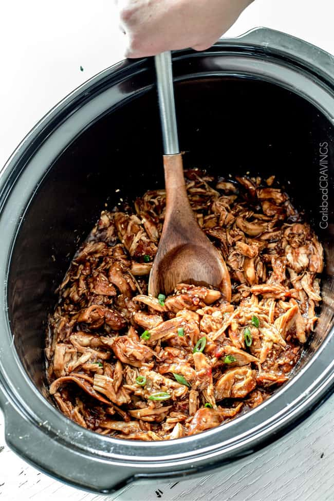 Slow Cooker Honey Soy Chicken is one of our family favorites with the most incredible sauce! Super easy and way better than takeout!