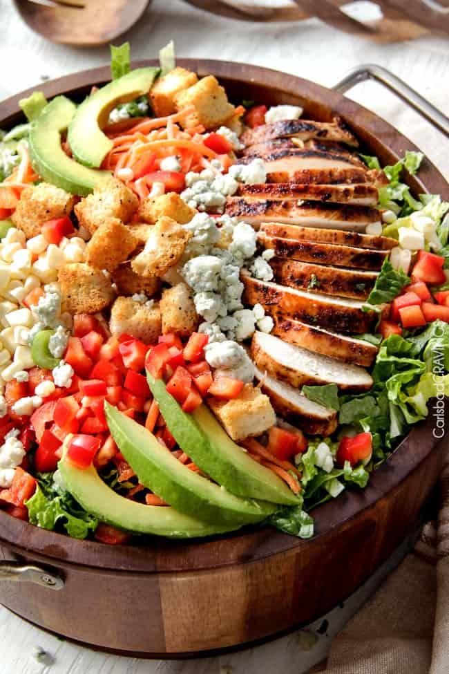 Buffalo Chicken Salad with Blue Cheese Cilantro Ranch - Carlsbad ...