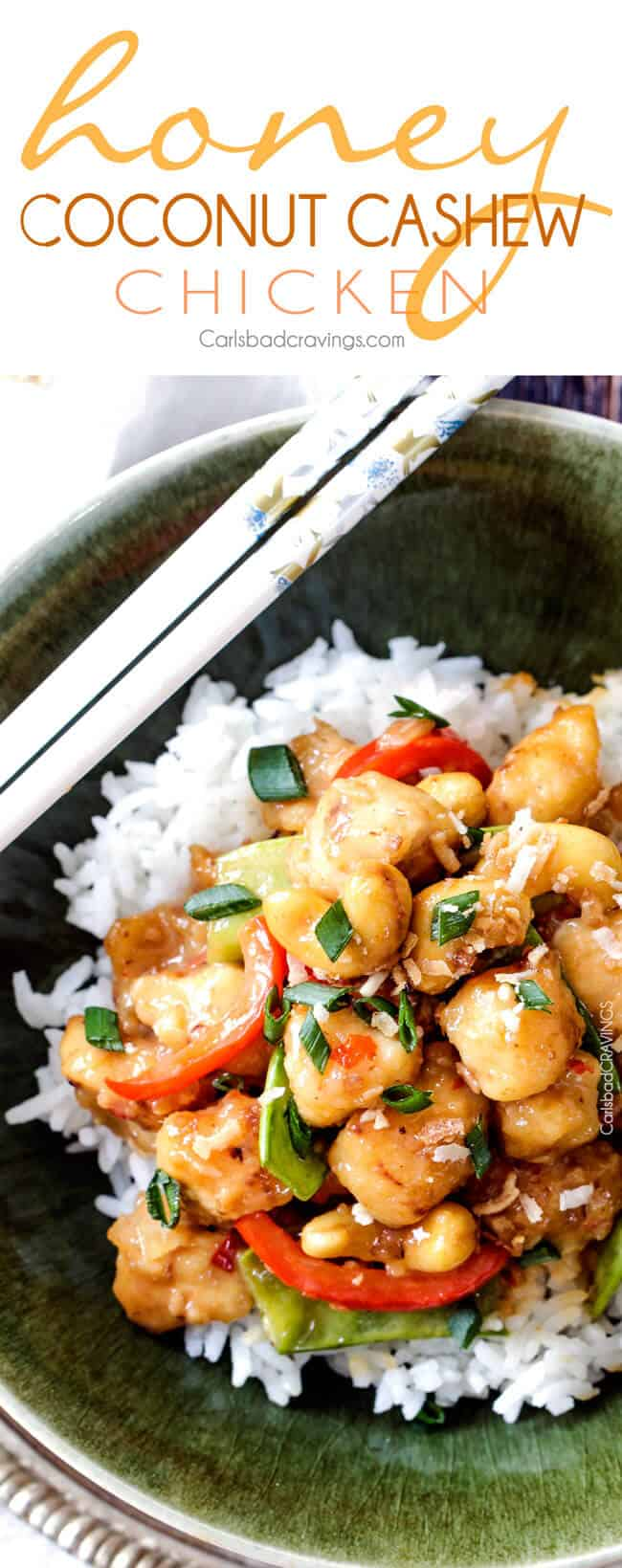 Honey Coconut Cashew Chicken