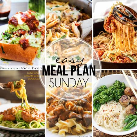 Easy Meal Plan Sunday 33