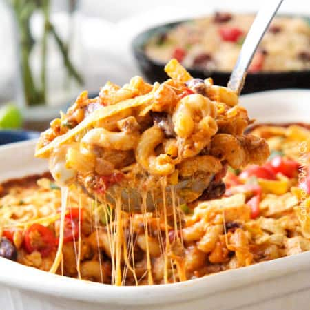 (Lighter) Cheesy Taco Pasta Bake