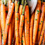 Secret Ingredient Honey Garlic Roasted Carrots