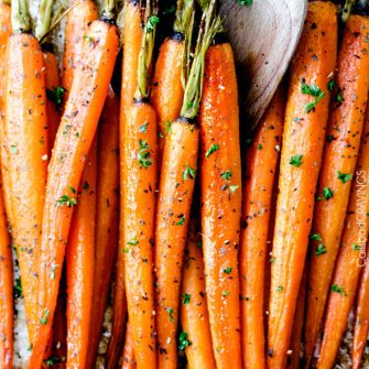 Roasted Carrots with honey and garlic