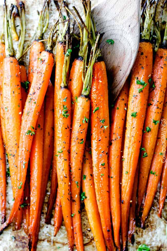 Roasted Carrots With Honey And Garlic And A Secret