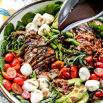 Caprese Chicken Salad with Avocado and Bacon