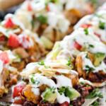 Chipotle Ranch Chicken Taco Flatbread Pizza