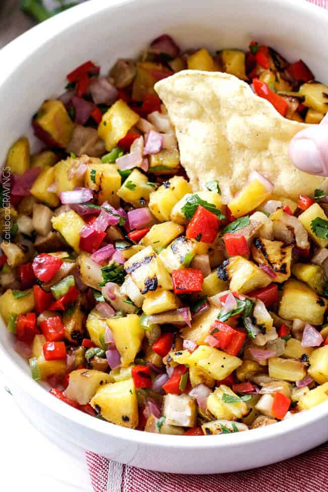 Grilled Pineapple Salsa Recipe | Carlsbad Cravings