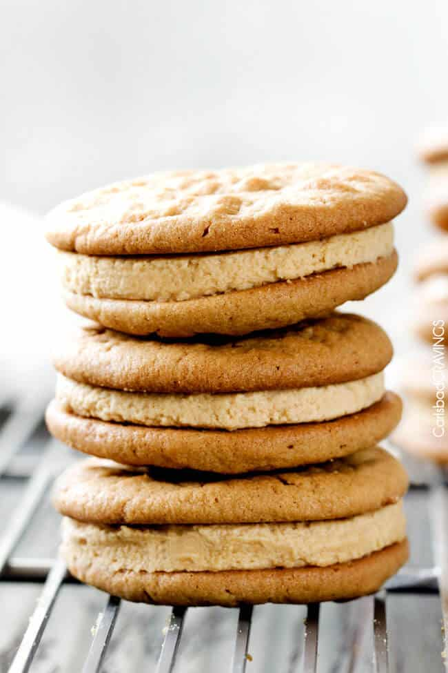 easy peanut butter cookie recipe on a cooling rack