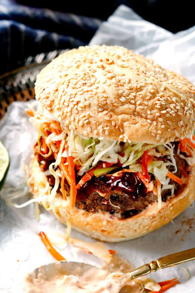Asian burger recipe