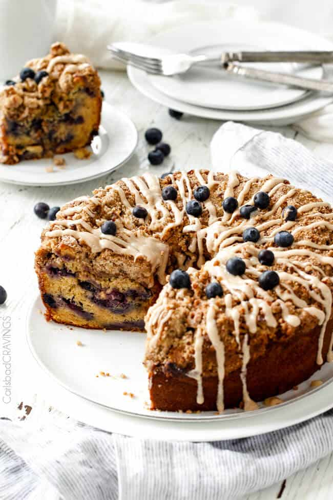 blueberry muffin cake blueberry muffin cake with maple cheese glaze 1974