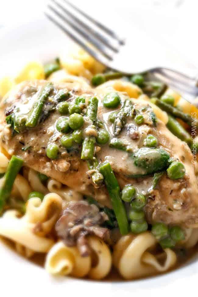 Creamy Parmesan Pesto Chicken Skillet - this is the BEST one skillet ...