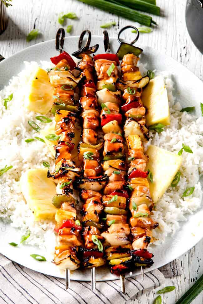 Hawaiian Chicken Kabobs Video With The Best Glaze