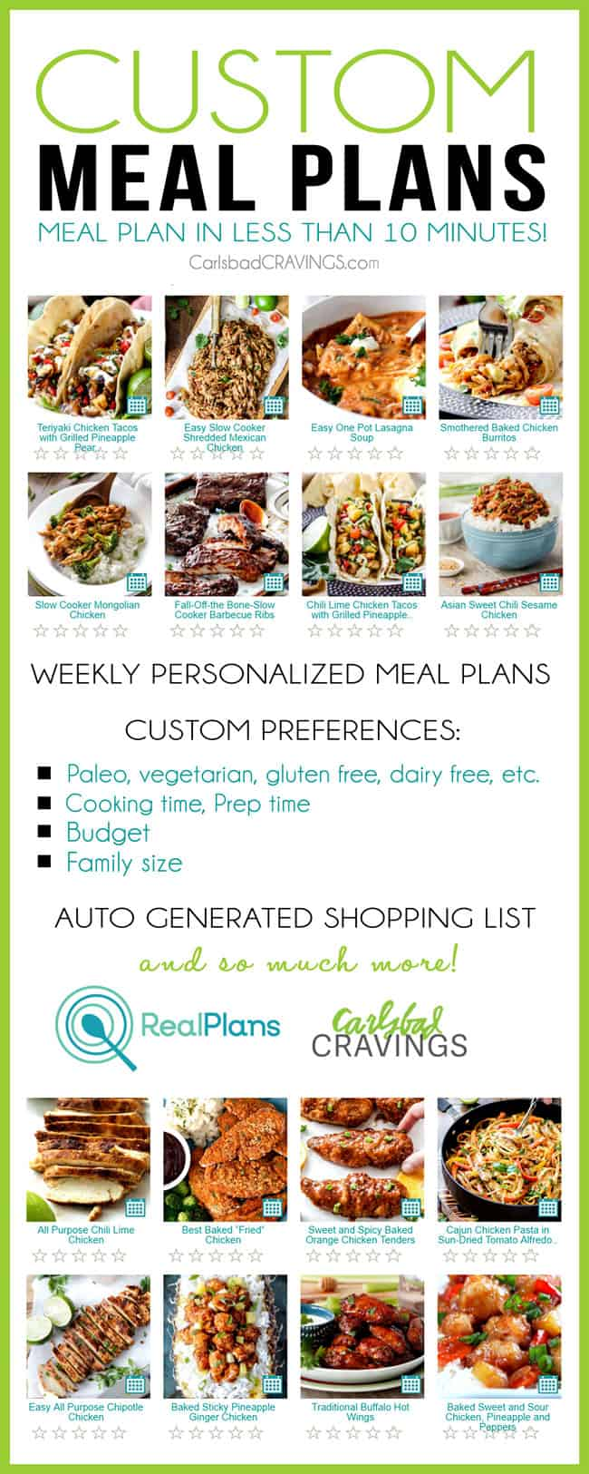 Simplify Your Life with Real Plans Meal Plans!