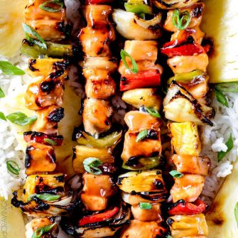 Hawaiian Chicken Kabobs (Grilled or Broiled)