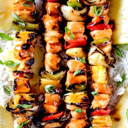 Grilled or Broiled Hawaiian Chicken Kabobs