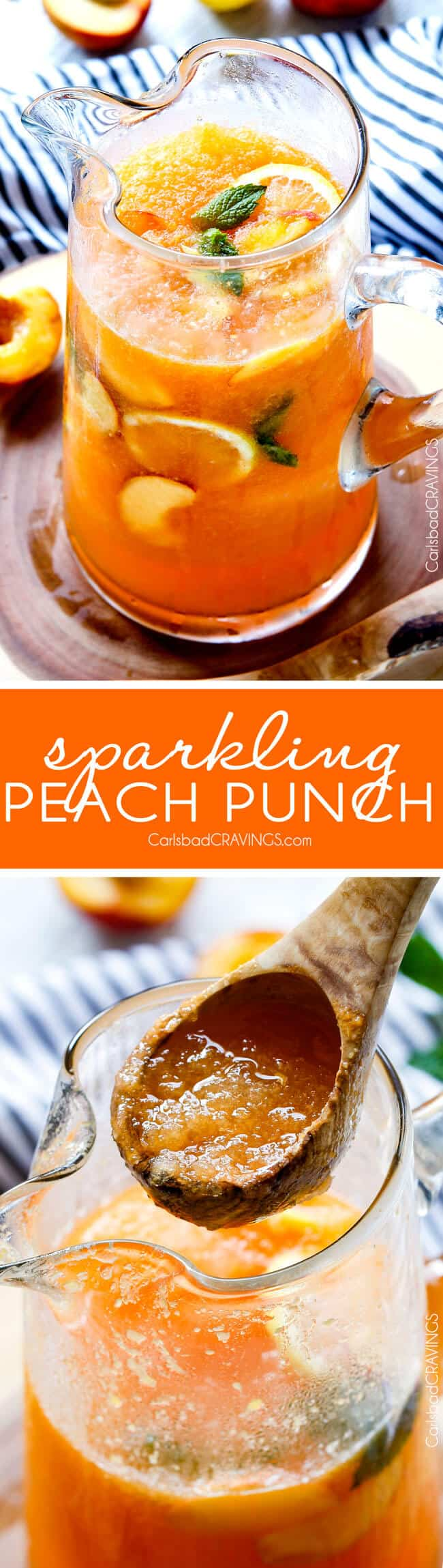 sparkling peach punch non alcoholic vibrant refreshing flavorful and the perfect