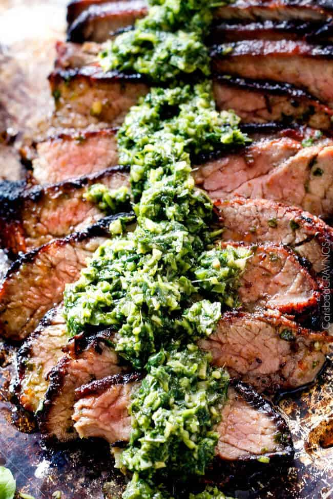 Asian Chimichurri Steak - this marinade is hands down the best steak ...