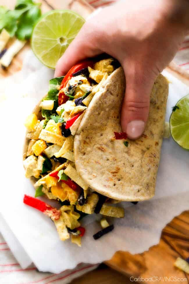 These Avocado Chicken Salad Sandwiches are my favorite way to use leftover chicken! They are super easy, creamy, flavorful, refreshing and I love the Mexican spices and crunch of tortilla strips!