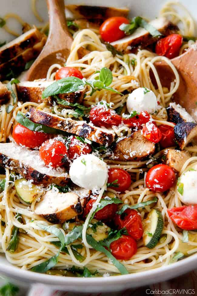 Caprese Chicken Pasta with Balsamic Chicken - Carlsbad Cravings
