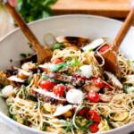 Caprese Chicken Pasta with Balsamic Chicken