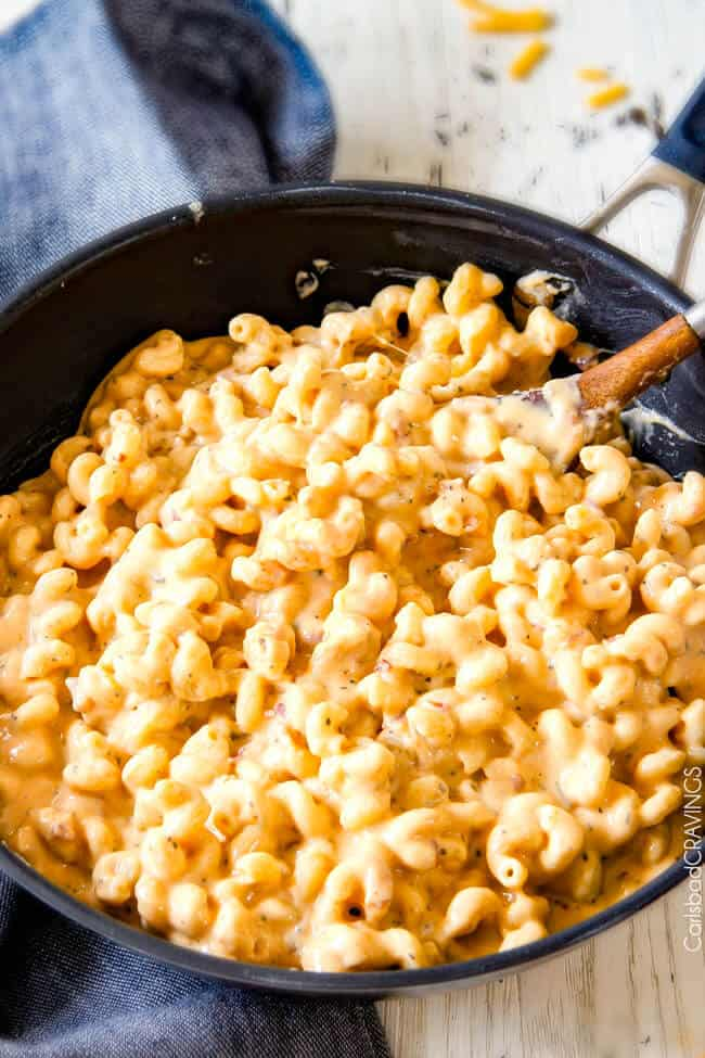Missing cheese in on Million Dollar Macaroni and Cheese.