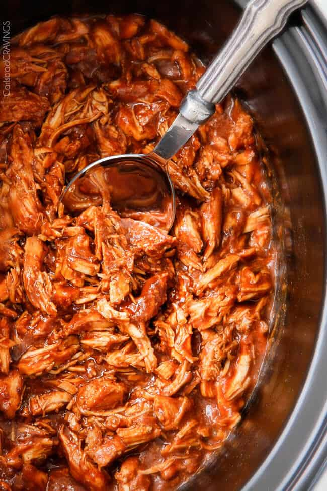 Slow Cooker BBQ Chicken with the BEST Homemade Barbecue Sauce