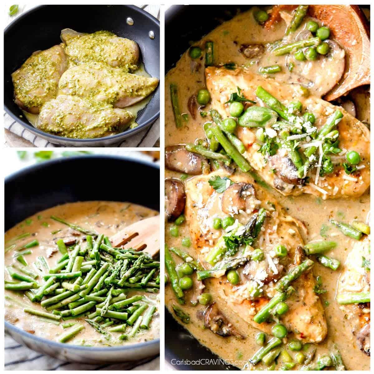 Creamy Parmesan Pesto Chicken Skillet - Carlsbad Cravings