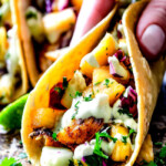 Blackened Tilapia Fish Tacos with Pineapple Cucumber Slaw