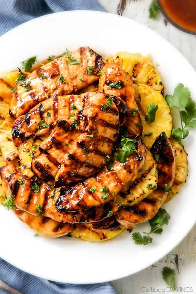 Stove Top or Grilled Brown Sugar Pineapple Chicken - just 10 minutes ...