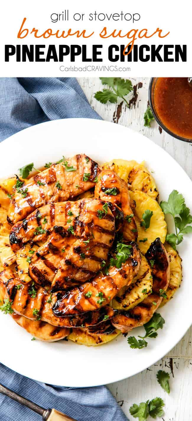Brown Sugar Pineapple Chicken | Carlsbad Cravings