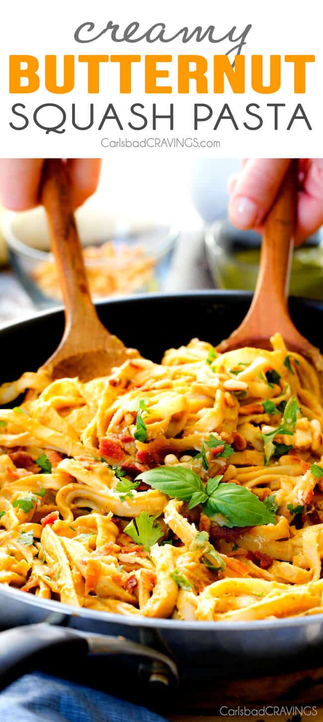 ... Butternut Squash Pasta - silky quick and easy pasta that is SO