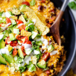 One Skillet Mexican Chicken and Rice (with Jalapeno Ranch)