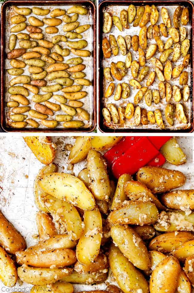 ... roasted roasted fingerling potato crisps with shallots and rosemary