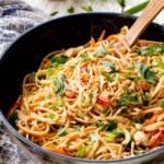 Peanut Sesame Noodles (with Chicken & Veggies)