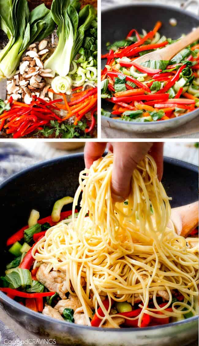 30 Minute Peanut Sesame Noodles (with Chicken and Veggies) - super quick and easy meal all in one with the most amazing creamy peanut sesame sauce you will crave for days!