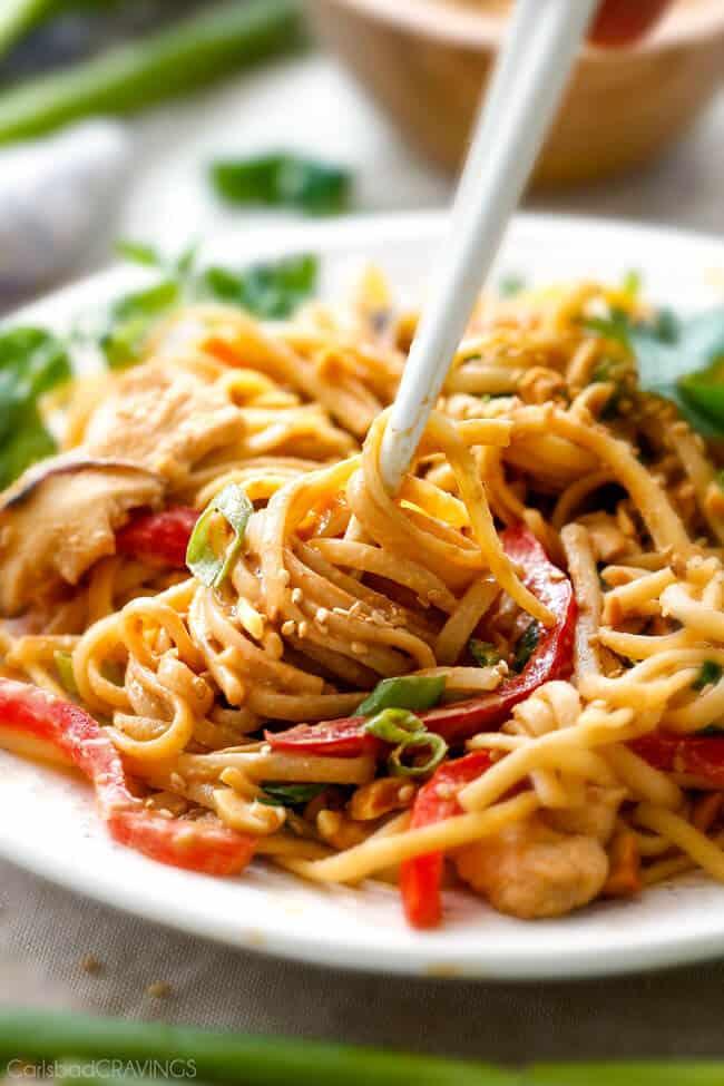 Peanut Sesame Noodles (with Chicken & Veggies) - Carlsbad ...