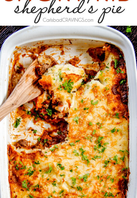 The BEST Shepherd's Pie!!! Savory, comforting Boneless Short Rib Shepherds Pie elevates shepherd's (or cottage pie) to a whole new level with melt in your mouth meat and Swiss Gruyere Mashed Potatoes! This is guaranteed to be a new family favorite!!!