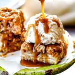 Salted Caramel Apple Pie Blondies