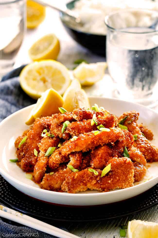 Best ever crispy chinese lemon chicken crispy sweet and tangy chinese lemon chicken my family devours this crunchy sweet and tangy forumfinder Images