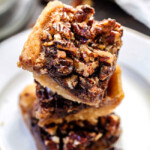 Chocolate Chunk Pecan Pie Bars