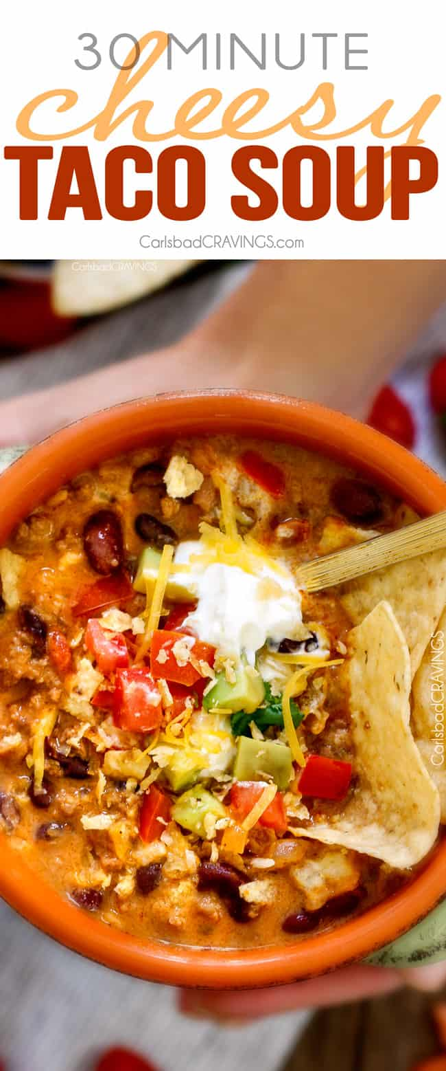 Cheesy Taco Soup | Carlsbad Cravings
