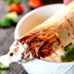 Cheesy Baked BBQ Pork Taquitos