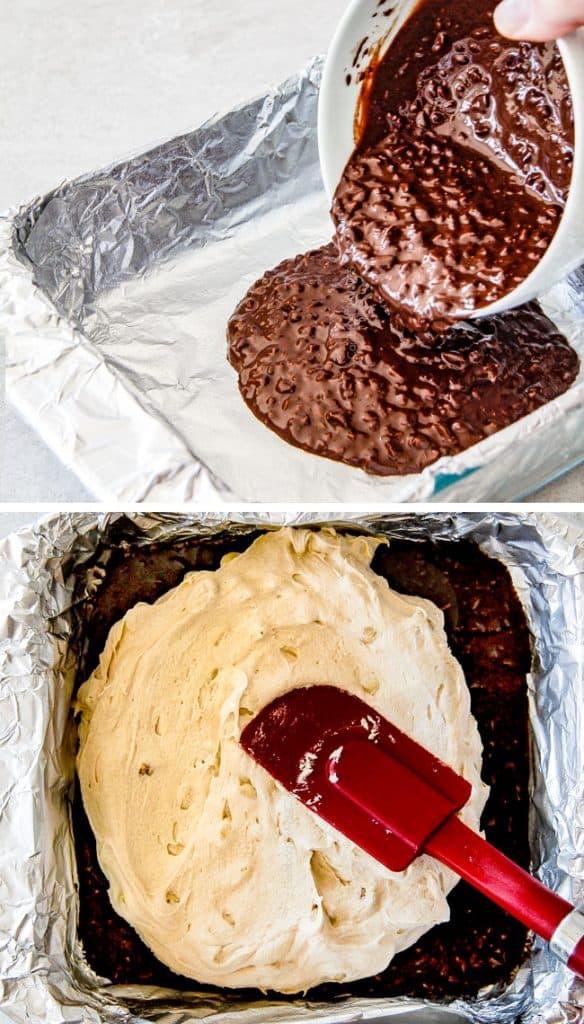 Chocolate Caramel Peanut Butter Fudge