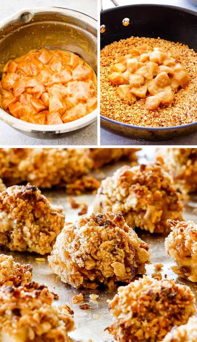 Baked Coconut Cashew Chicken Bites