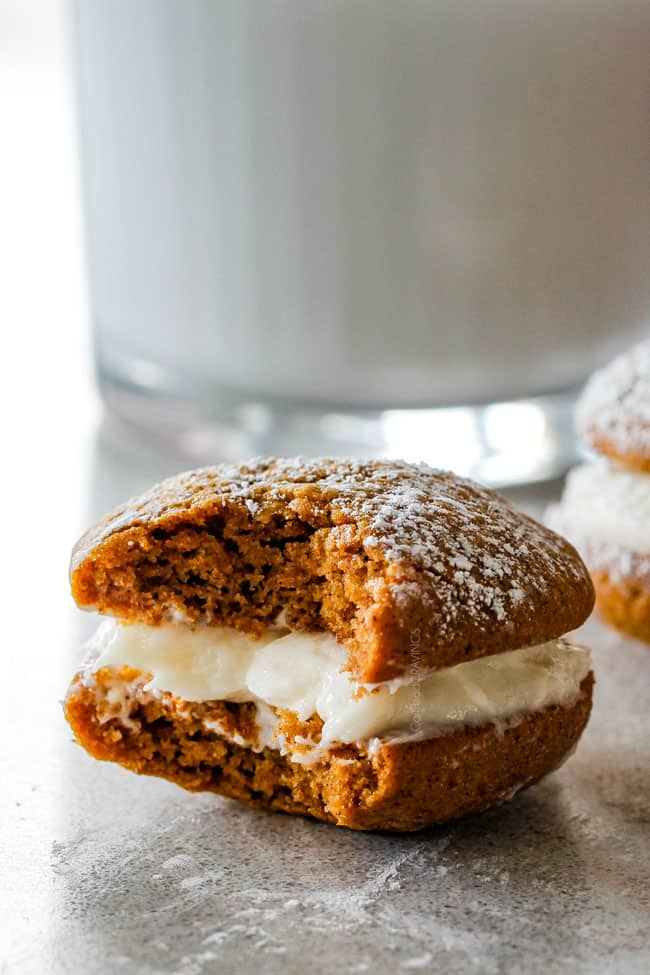 soft Whoopie Pie with a bite taken out of it