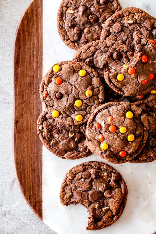These Super soft and chewy Nutella Cookies are my absolute favorite chocolate cookie with a whole cup of Nutella mixed right into the batter! Mix in anything you want from chocolate chips to, Reese's pieces to Andes mints for the perfect Christmas cookie!