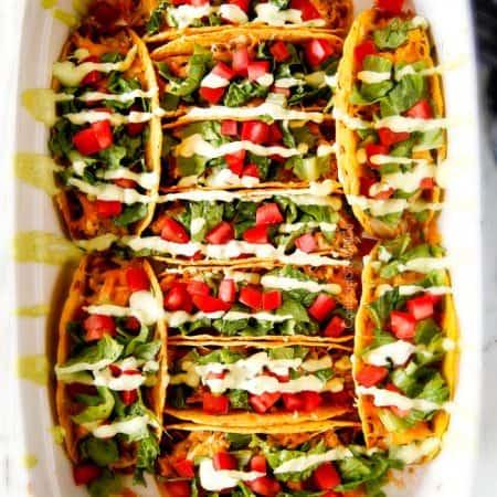 Baked Fiesta Ranch Chicken Tacos
